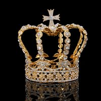 Gorgeous Crystal Queen Crown Wedding Bridal Tiaras and Crown...