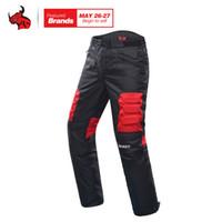 Calças Duhan motocicleta Motocross Off-Road Calças Motociclismo Pantalon Windproof equitação calças no joelho Guardas de protecção