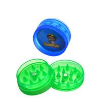 Honeypuff Magnetize 2 Schichten 30mm Mini Hartplastik Rauchtabak Kräuter Mühle 48pcs / Box Müller Reggae Schleifmaschinen Rauchbrecher Großhandel