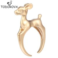 Todorova Cute 3D Bambee Animal Deer Rings for Women Girl Wed...
