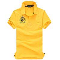 무료 배송! 2018 사이즈 S-2XL 브랜드 New VII 크라운 셔츠 반소매 티셔츠 남성 티셔츠 폴로 남성 티셔츠 100 % Cotton.Drop shipping