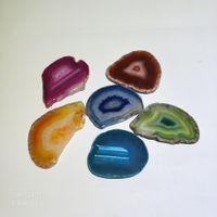Quarzo minerale Naturale e colorato Stripped Agate Slice Beads 8cm-10cm Quarzo minerale lungo casuale in forma