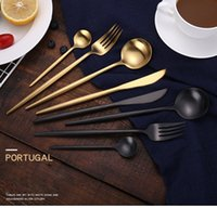 Vintage Portugal design flatware set 304 stainless steel cut...