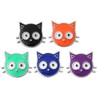 NOOSA Mini lindo gato 12mm Snap Button joyería DIY pendientes de la pulsera broche de collar de regalo