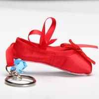 Дети балерина мини балетной обуви балет брелок подарок атласная пуанты обувь брелок розовый танцевальная обувь балетная сумка очарование цепи DT009