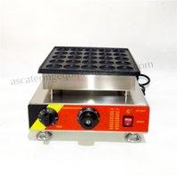 Paslanmaz Çelik Elektrikli Poffertjes Waffle Makinesi Yapışmaz Pan Poffertjes Izgara Makinesi 25 adet / Toplu Snack Bar Restoranları
