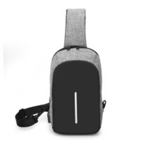 a17b842ad8 Multifonction Crossbody Sacs Hommes USB Chargeur Pack Poitrine Pack Court  Voyage Messagers Sac Sac à bandoulière Water Repellent Male A139