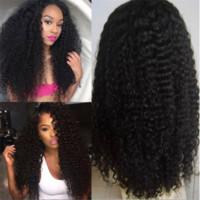 Top Grade Qingdao Sconto AAAAAAA 100% Non trasformato Remy Vergine Vergine Capelli Umani Lungo Colore naturale Afro Curly Piena Cap Parrucca per le donne