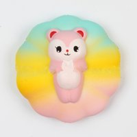 Jumbo Rainbow Cloud Cat Kitty Kawaii Squishy Slow Rising Ant...