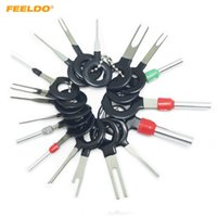 FEELDO 18pcs/комплект автомобиль разъем терминал извлечения инструмент для ремонта плат проводов разобран обжимной Штырь иглы удалить инструмент #5753