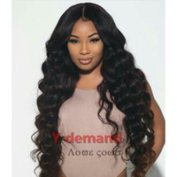 Y Demand Long Black Curly Wig Hot Corn Wave Synthetic Hair F...