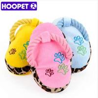 HOOPET Perros Toy Pet Blue Puppy Chew Jugar Cute Plush Slipper Shape Squeaky Supplies Directo de fábrica