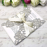 New Style Free Shipping Silver Glitter Invitations Cards Wit...