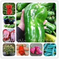 200pcs / 가방 드문 모양 칠리 씨앗 혼합 다른 향신료 매운 고추 씨앗 비 gmo 야채 씨앗 정원 용품