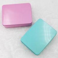 12 cm * 9 cm * 4 cm Zinn Fall Aufbewahrungsbox Metall Rechteck Container für perlen visitenkarte candy kräuter LX3855