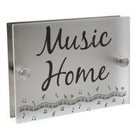 Music Personalized Modern House Number Door Sign Plaque Stre...
