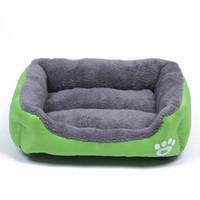 Lit de chien de compagnie réchauffement chien maison matériau doux nid de chien paniers automne et hiver chaud chenil pour chat chiot plus la taille