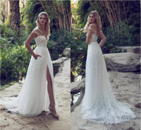 Limor Rosen Ultimi Abiti da sposa Illusion Off Shoulder Sweep Train Backless Garden Beach Abiti da sposa Applique in pizzo A Line Abiti da sposa