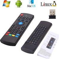 2.4G Controles Remotos Sem Fio MX3 Fly Air Mouse Teclado para caixa de TV Android MXQ M8S Mini PC