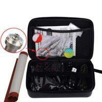 Enail kit pour vaporisateur d'herbe sèche Digital PID électronique Dab titane ongles sans ongles Dnail E-Nail Wax vaporisateur avec étui à fermeture à glissière