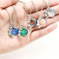 Русалка шкала ожерелье рыбья шкала ожерелье, 12 шкала цвет русалка ожерелье лакомство кулон мерцающий русалка ювелирные изделия горячие продажа