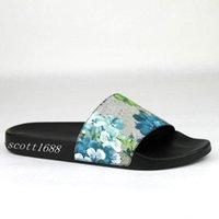 maschile e femminile sandali scivolo blu fiore sboccia in gomma disegno floreale stampato tela dello slip-on pantofole appartamenti rivestiti
