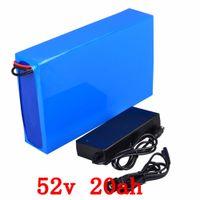 전자 자전거 배터리 52V 20Ah 리튬 배터리 팩 48V 1000W 전기 자전거 배터리와 BMS + 충전기 무료 배송