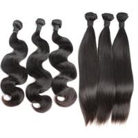 موجة الجسم حزم الشعر البرازيلي العذراء ريمي الشعر البشري ينسج غير المجهزة مستقيم الشعر الملحقات اللحمة مذهلة بيلاهير