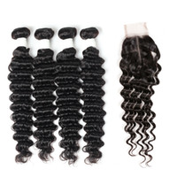 Ishow New Arrival 9A Brazilian Deep Wave Bundles 4pcs with 2...