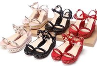 AAAAA Women Cataclou 6cm Wedges Sandals Shoes, striated pyram...