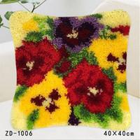 Main Taie Fleurs créatives et plantes style de couverture de coussin pour la maison Canapé Décor Tapis pillowslip Artisanat Broderie