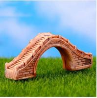 Resin Bridge Figurine Mini Resina Artigianato Fairy Garden Miniature Terrario fai da te Piante grasse Miniature Micro Decorazione paesaggistica
