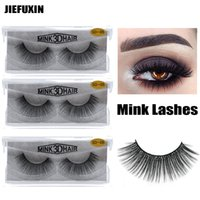 1Pair lot 3D Mink Lashes Luxury Hand Made Mink Eyelashes Med...