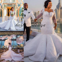 Gorgeous South Africa Wedding Dress Sparkle Sequins Beads La...