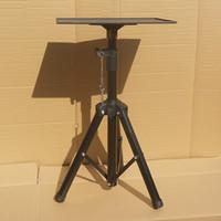 Trépied de projecteur noir antidérapant Support télescopique + grand plateau 30x40cm Support de haut-parleur Matériau métallique 60 kg