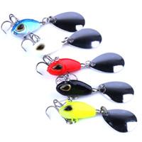 INFOF 5pcs kit de señuelos de vibración de pesca vib spin cebos 25 mm 11.5 g hundimiento artificial vibrador cebos de pesca bajos