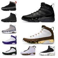 9 chaussures de basket-ball de 9s Bred LA Mop Melo Anthracite blanc Noir L'esprit cool Hommes gris Lakers PE sport trainersSneakers