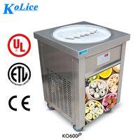 ETL CE GRATUITO Equipo de procesamiento de alimentos Franquicia 55 cm Redonda PAN 110V Máquina de rollo de helado frito tailandés