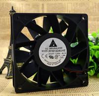 Delta PFB1224UHE 12038 24V 2.40A 12CM 120 * 120 * 38 mm 2 alambre de gran volumen de aire del ventilador convertidor de frecuencia violenta