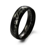 Nuovi anelli caldi per gli uomini in acciaio inossidabile placcato in oro Hobbit e il Signore del Ring Band Wedding Fidanzamento Cocktail Regali di moda per i ragazzi