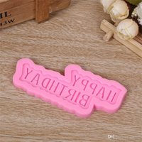 3D Happy Birthday Silicone Molds Fondant Cake Chocolate Sugar Practical Mould DIY Handmade Kitchen Baking Tools Eco Friendly 1 5dy ZZ
