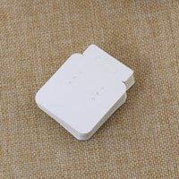 100 قطع 4.3 * 5.2 سنتيمتر ورقة بيضاء بطاقة مجوهرات التعبئة بطاقة القرط بطاقة التعبئة