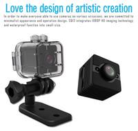 SQ12 Su Geçirmez Spor Kamera DVR ile Kızılötesi Gece Görüş Hareket Algılama Full HD 1080 P 720 P Taşınabilir Mini DV Kamera Video Kaydedici