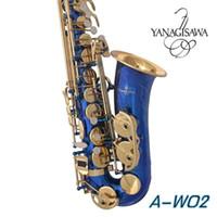 Strumento musicale Nuovo sassofono contralto blu Marca giapponese Yanagisawa A-W02 E sassofono contralto professionale Spedizione gratuita