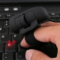 1pc Black USB Wired Finger Rings Optical Mouse 1200Dpi Mini ...