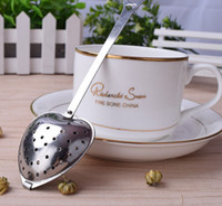 Прекрасный форме сердца из нержавеющей стали чай Infuser мяч Resuable ложка фильтр круче ручка душ милый чай фильтр