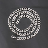 New design Stainless steel Hot designer Necklace Mens Necklaces Fashion Jewelry Titanium Chain Necklace mens gift,5mm width