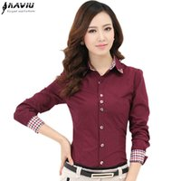 Naviu new fashion and elegant womens Shirt Long Sleeve slim ...