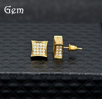 Hot Men Cubic Zirconia Diamond Earings Fashion Mens Jewelry ...