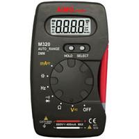 Freeshipping M320 Multimètre numérique de poche LCD Multimètre numérique DMM Fréquence Courant de charge Capacité diode de résistance Mesure Données Maintien Plage automatique